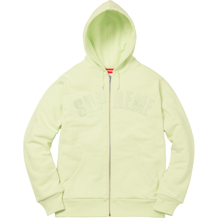 Arc Logo Thermal Zip Up Sweatshirt (Pale Lime)