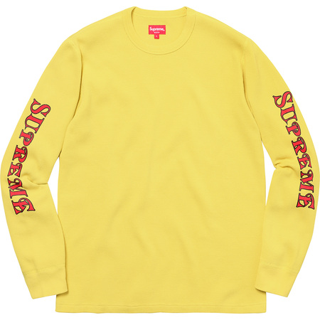 Sleeve Logo Waffle Thermal (Pale Yellow)