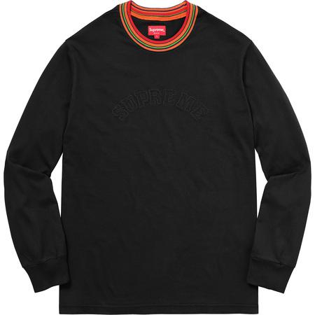 Multicolor Striped Rib L/S Top (Black)