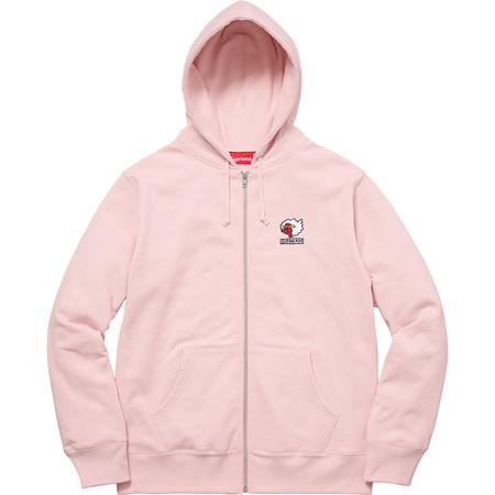 Gonz Ramm Zip Up Sweatshirt (Pale Pink)