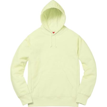 Embossed Logo Hooded Sweatshirt (Pale Lime)