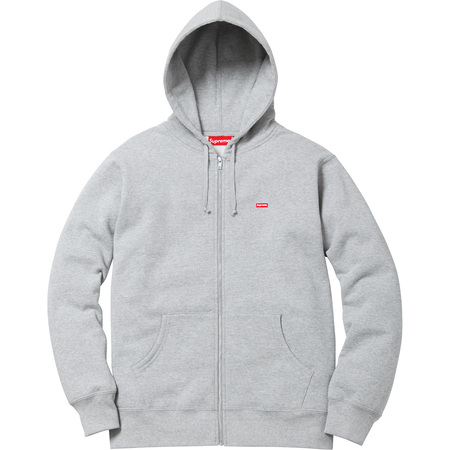 Small Box Zip Up Sweatshirt (Heather Grey)