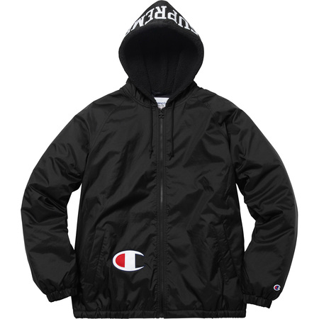 Supreme®/Champion® Sherpa Lined Hooded Jacket (Black)