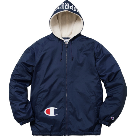 Supreme®/Champion® Sherpa Lined Hooded Jacket (Navy)
