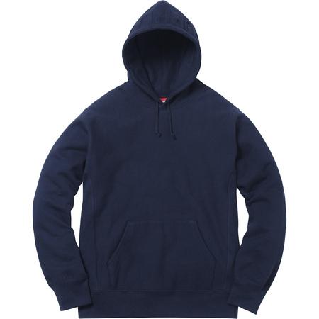 Embossed Logo Hooded Sweatshirt (Navy)