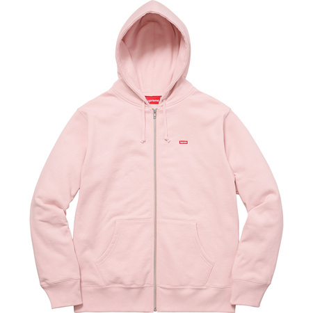 Small Box Zip Up Sweatshirt (Pale Pink)