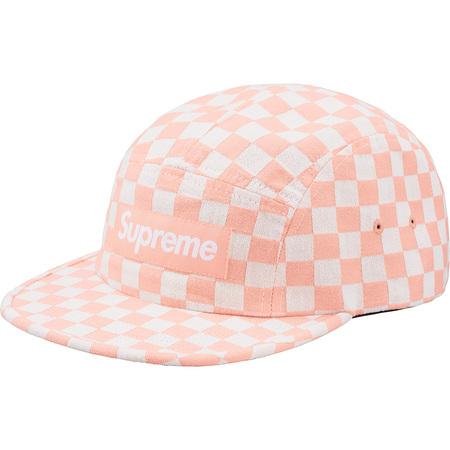 Checkerboard Camp Cap (Peach)