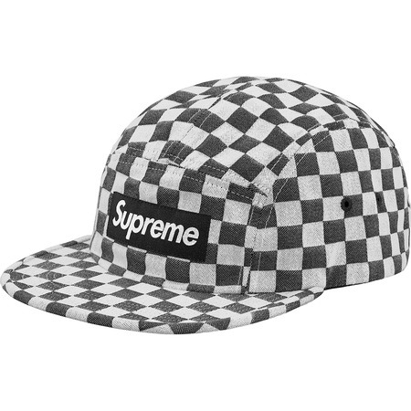 Checkerboard Camp Cap (Black)