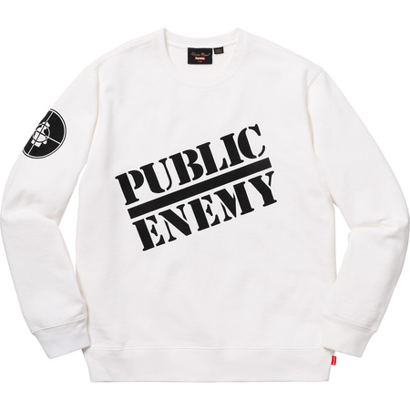 Supreme®/UNDERCOVER/Public Enemy Crewneck Sweatshirt (White)