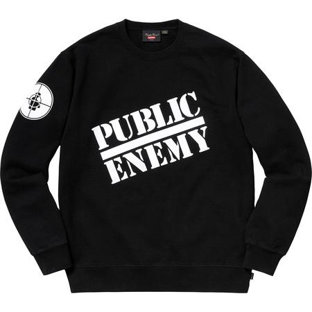 Supreme®/UNDERCOVER/Public Enemy Crewneck Sweatshirt (Black)