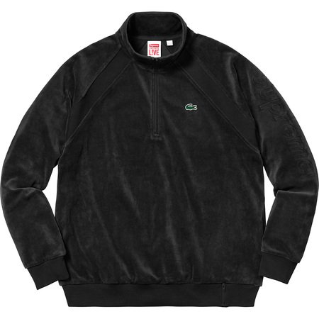 Supreme®/LACOSTE Velour Half-Zip Track Top (Black)