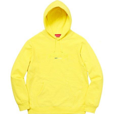 Embossed Logo Hooded Sweatshirt (Lemon)