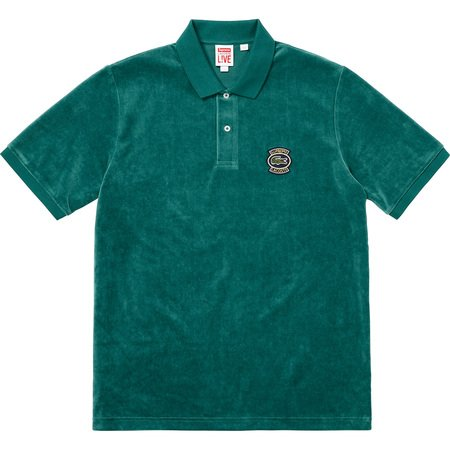 Supreme®/LACOSTE Velour Polo (Teal)
