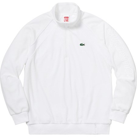 Supreme®/LACOSTE Velour Half-Zip Track Top (White)
