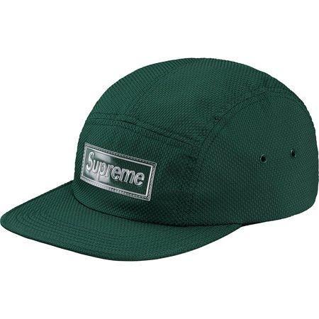 Nylon Pique Camp Cap (Dark Green)