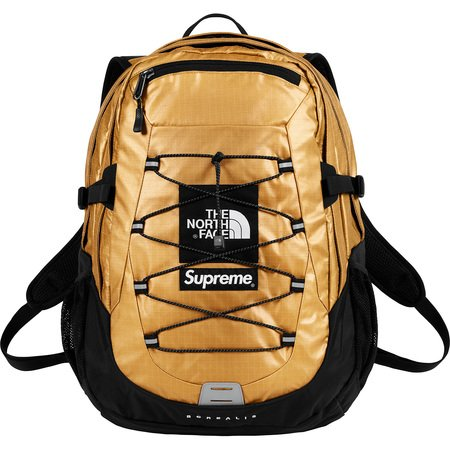 Supreme®/The North Face® Metallic Borealis Backpack (Gold)