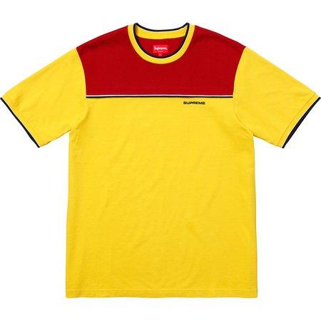Contrast Yoke Pique Top (Yellow)