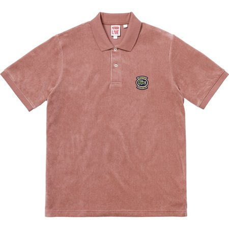 Supreme®/LACOSTE Velour Polo (Light Maroon)