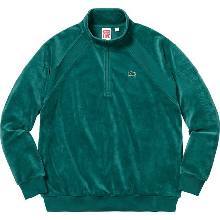 Supreme®/LACOSTE Velour Half-Zip Track Top (Teal)