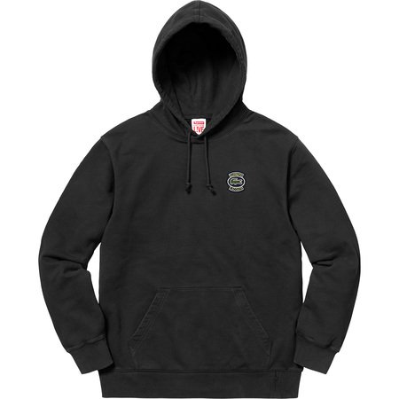 Supreme®/LACOSTE Hooded Sweatshirt (Black)