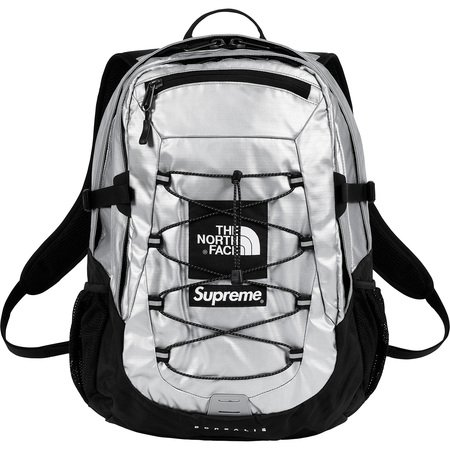 Supreme®/The North Face® Metallic Borealis Backpack (Silver)