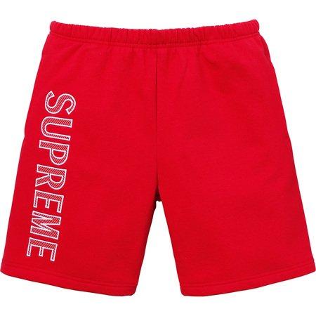 Leg Embroidery Sweatshort (Red)