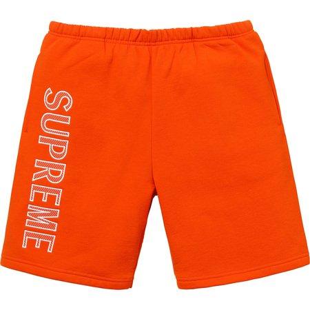 Leg Embroidery Sweatshort (Dark Orange)