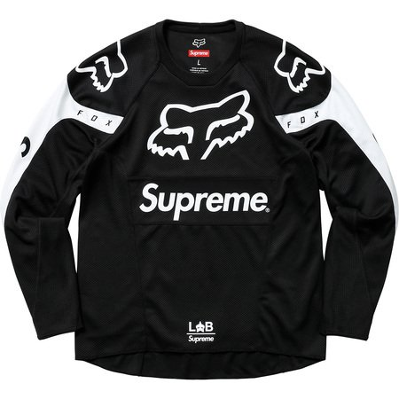 Supreme®/Fox Racing® Moto Jersey Top (Black)