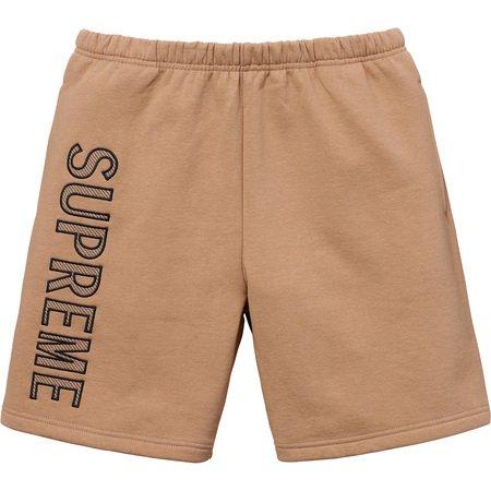 Leg Embroidery Sweatshort (Light Brown)