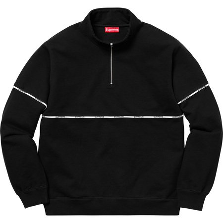 Logo Piping Half Zip Sweatshirt (Black)