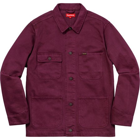 NY Tapestry Denim Chore Coat (Maroon)