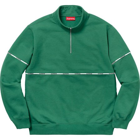Logo Piping Half Zip Sweatshirt (Light Pine)