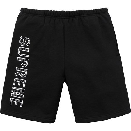 Leg Embroidery Sweatshort (Black)