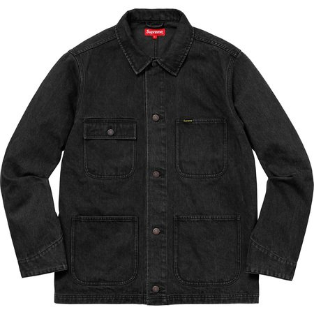 NY Tapestry Denim Chore Coat (Black)