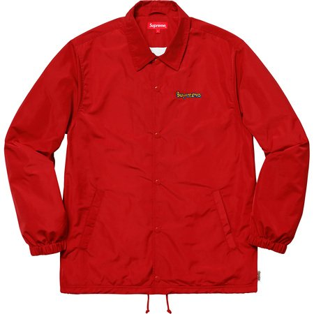 Gonz Logo Coaches Jacket (Red)