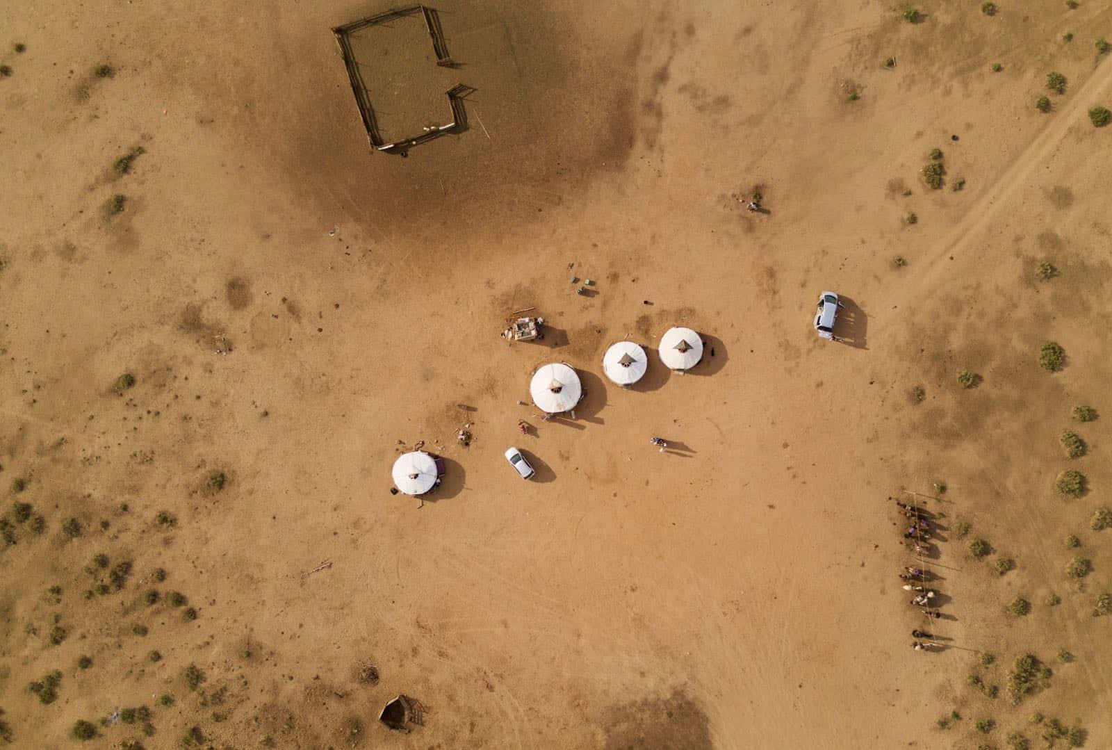 Drone Mavic Pro Mongolian Ger Camp Nomads betternotstop