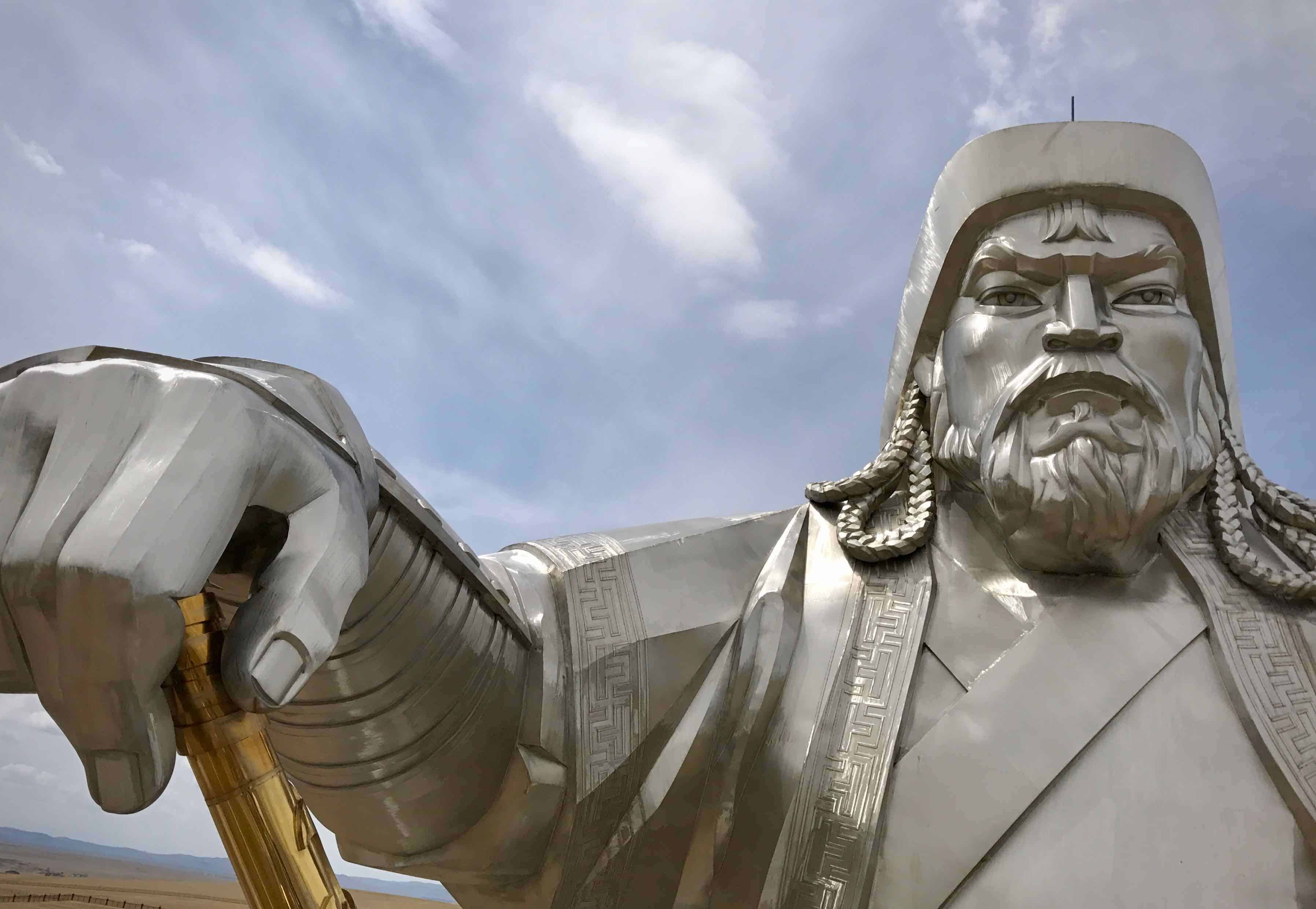 Chinggis Kahn Statue Ulaanbaatar Mongolia betternotstop