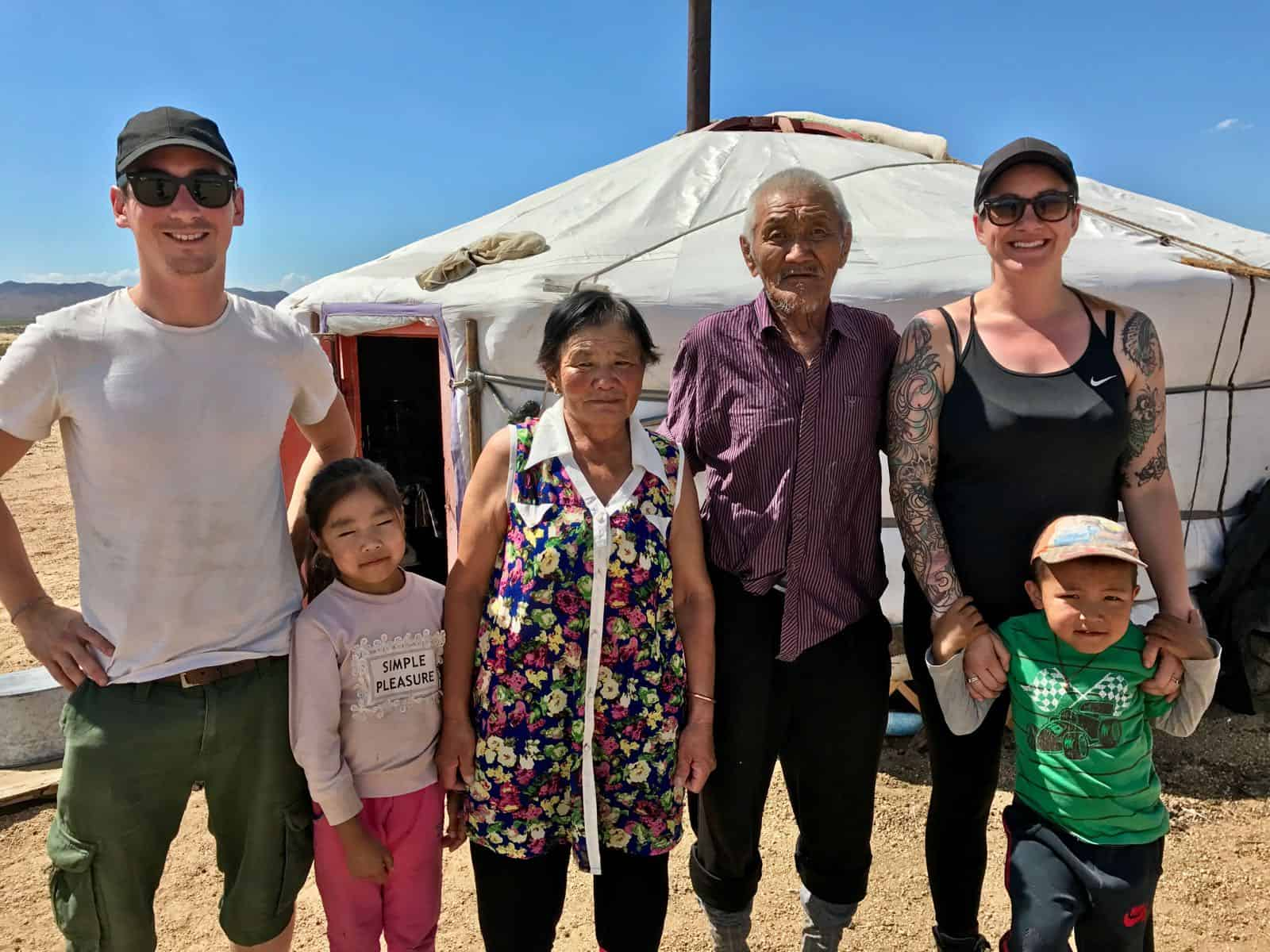 Mongolian Grandparents betternotstop Hannah Phil Mongolia Road to Happiness
