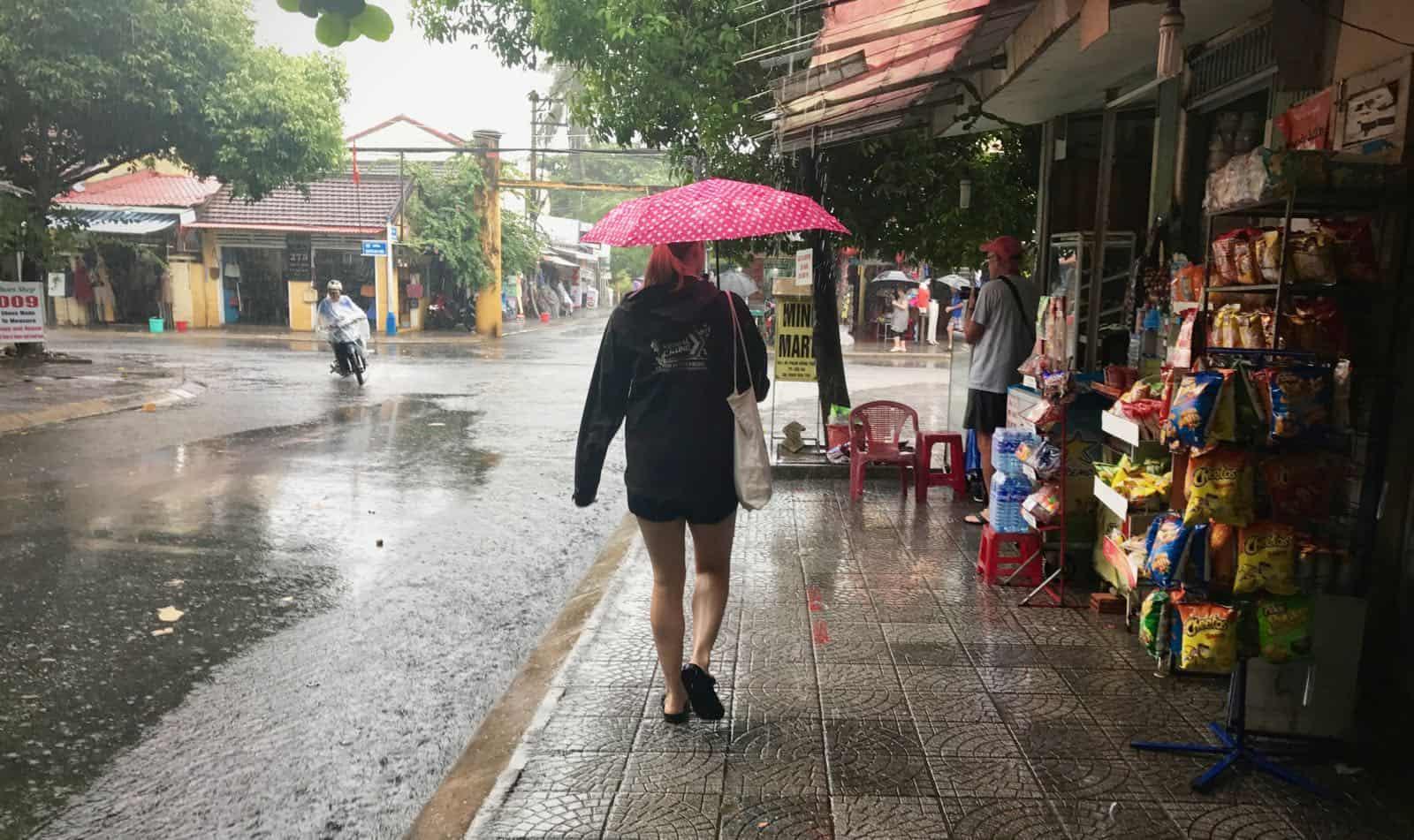 Hannah betternotstop monsoon Hoi An Vietnam
