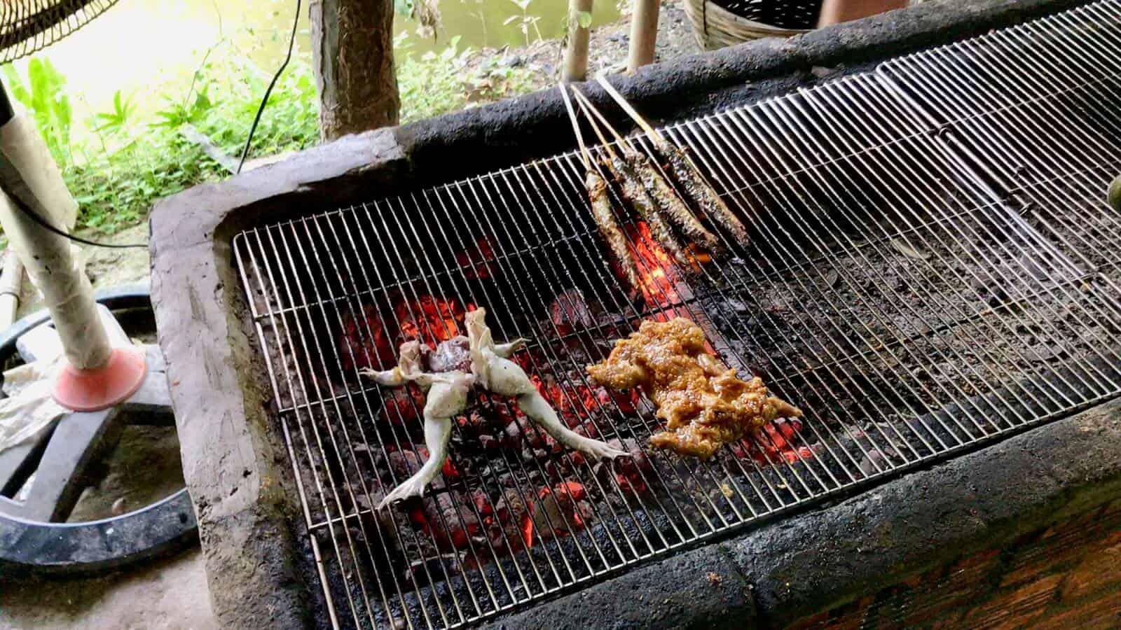 Sprat Frog Rat BBQ Vietnam Mekong betternotstop