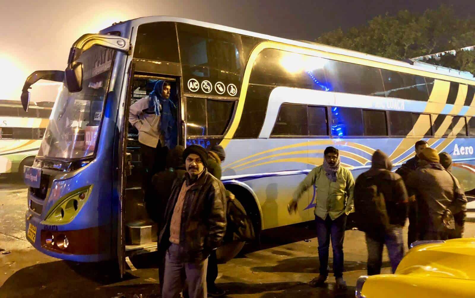 Night bus betternotstop India Odisha