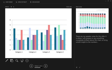 Tuned for touch, geared for webinars, handy in any environment, the new Presenter View packs a lot of control into a single interface.