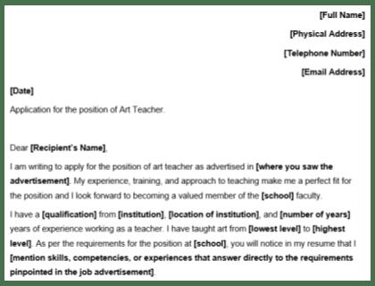 Teaching Application Letter For Teacher Job For Fresher Cover Letter For Fresher Teacher Job Application Best Cover Letters To Be Considered For Top Teaching Jobs You Need A Cover Letter