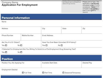 Sears job application