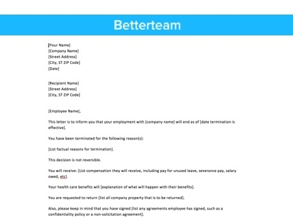 Layoff Letter Easy To Use Sample Template