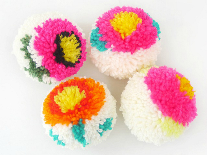 Easy pompom crafts for kids