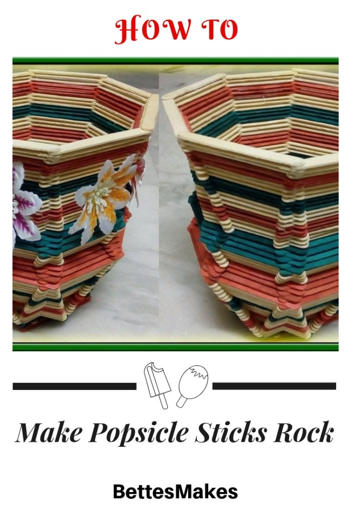 How To Make Popsicle Sticks Rock Planters