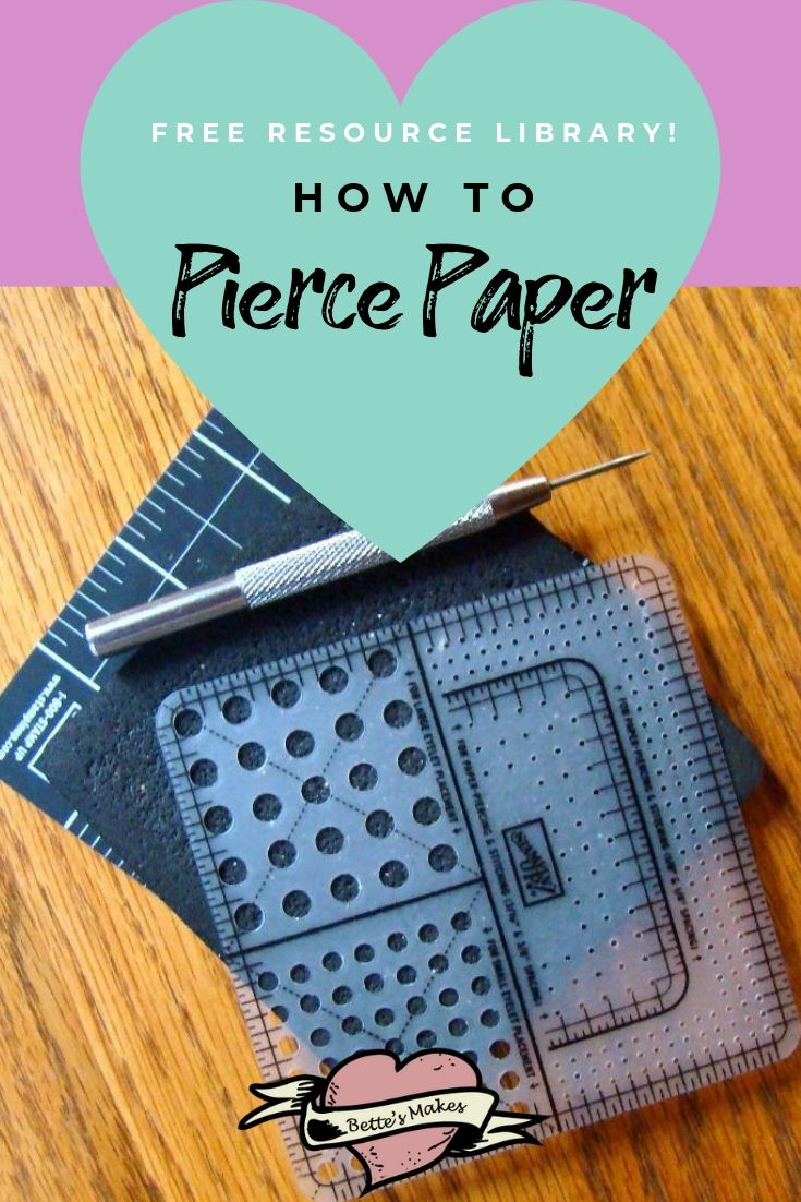 Paper Crafts: How To Paper Pierce