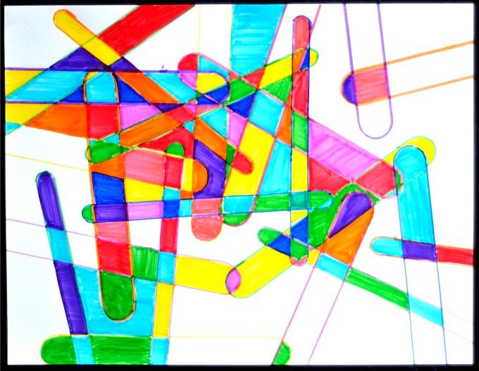 Popsicle Stick craft art