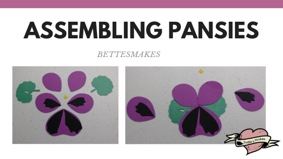 Mother's Day Card - assembling the pansies